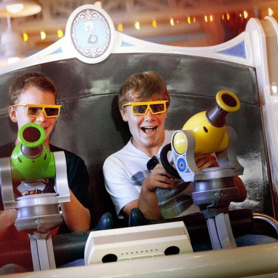 Disney California Adventure Park Blaster Ride