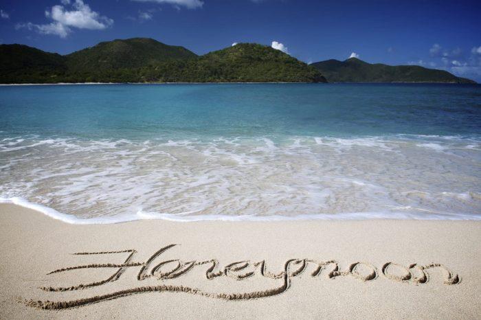 Honeymoon Written in Sand Beach Vacation