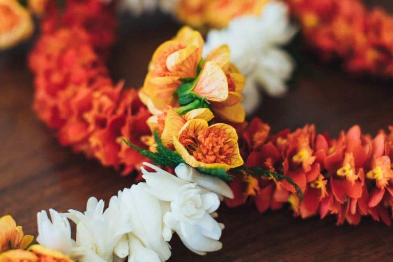 Luxury Hawaii Vacation Flower Lai Authentic Handmade