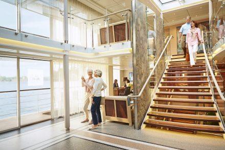 Viking River Cruise Luxury Vacation Atrium Stairs
