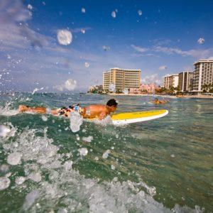 Hawaii Ocean Splash Surfing