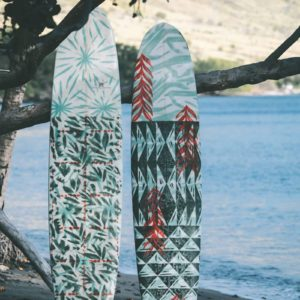 Hawaii Surfboards leaning Tree