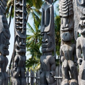 Hawaii Luxury Vacation Totem Carvings