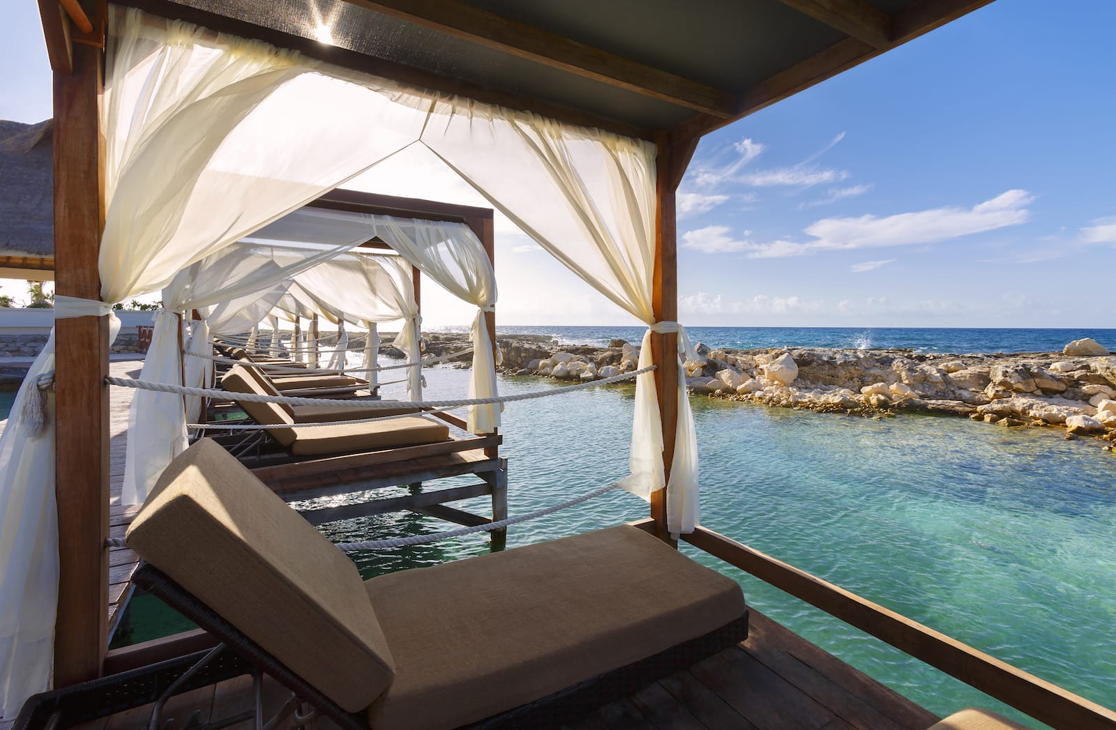 Heaven Bali Beds over water adventure all inclusive resort mexico romantic vacation