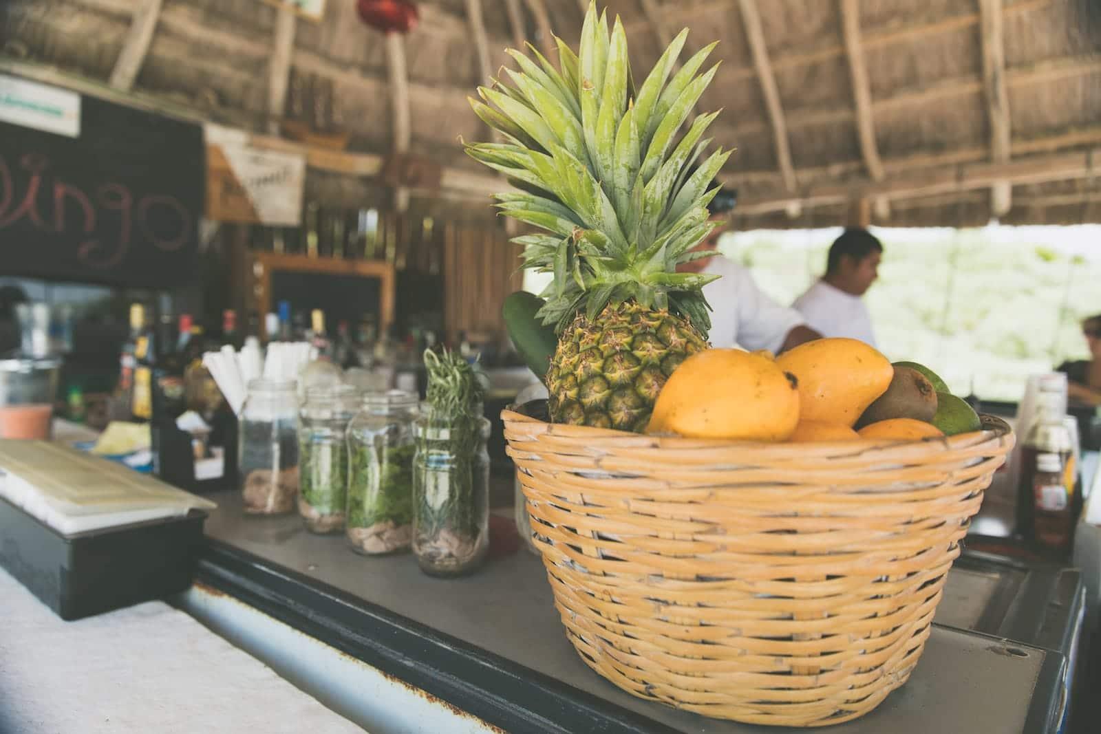 beach bar fresh fruit adventure all inclusive resort mexico romantic vacation