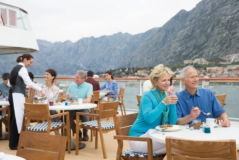Viking Cruise Terrace Dining Daytime Luxury Vacation