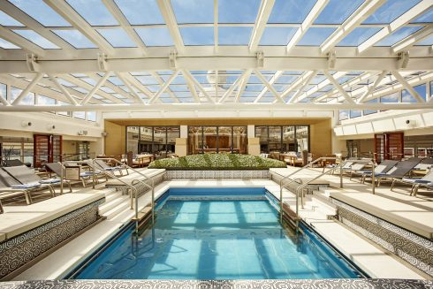 Viking Ocean Cruise Main Pool Retractable Roof Luxury Vacation