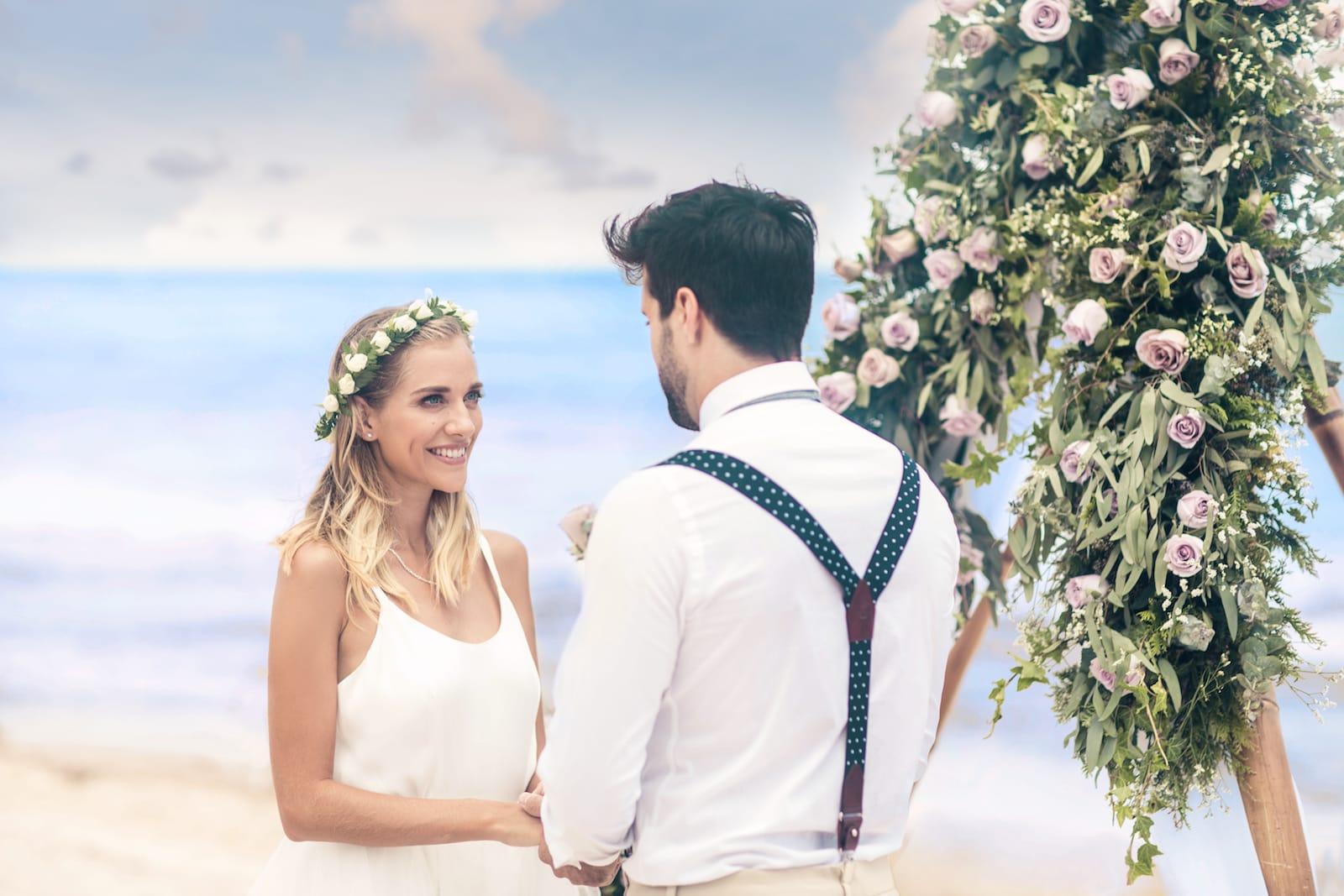 destination wedding exchange vows on beach adventure all inclusive resort mexico luxury romantic vacation