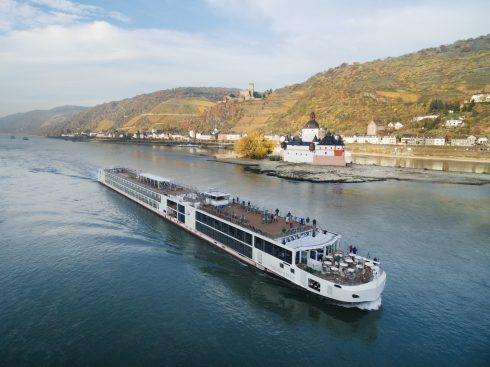 Rhine River Kaub Gutenfels Castle Luxury Vacation Viking River Cruise