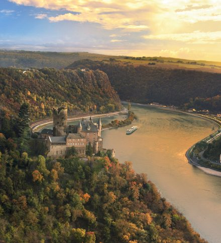 Viking River Cruise Katz Castle Rhine River Valley Luxury Vacation