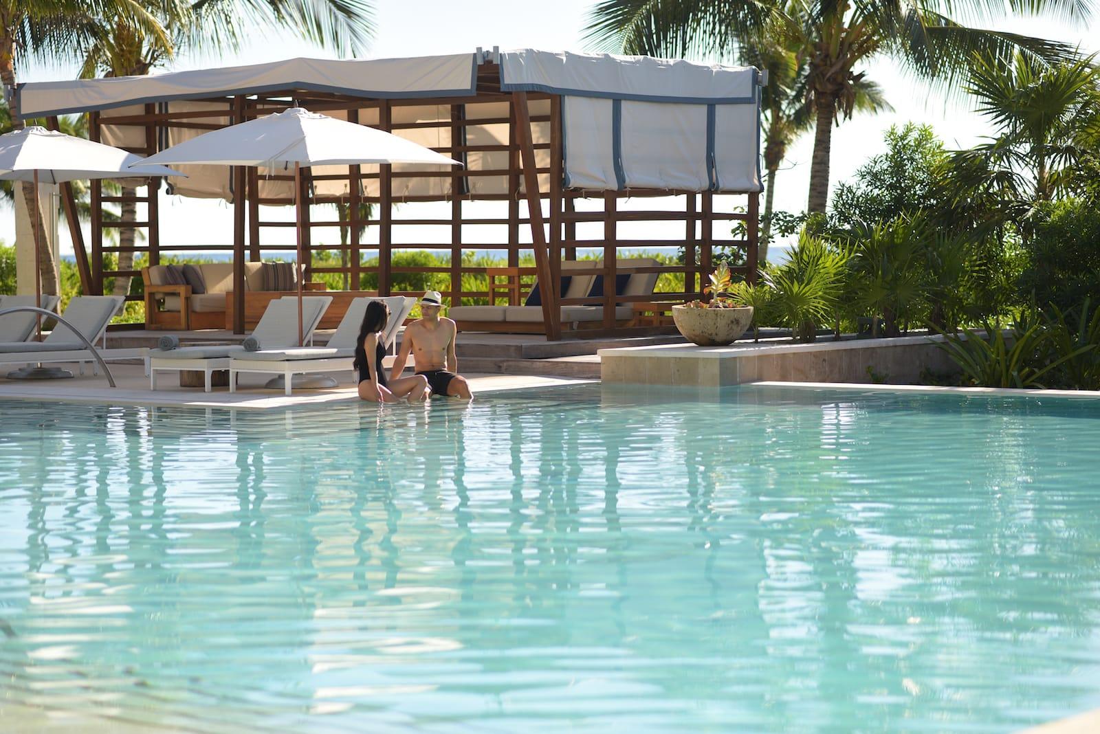 luxury swimming pool adventure all inclusive resort mexico romantic vacation