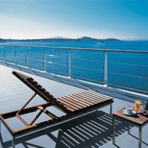 Auckland Hilton Hotel Balcony Overlooking Bay