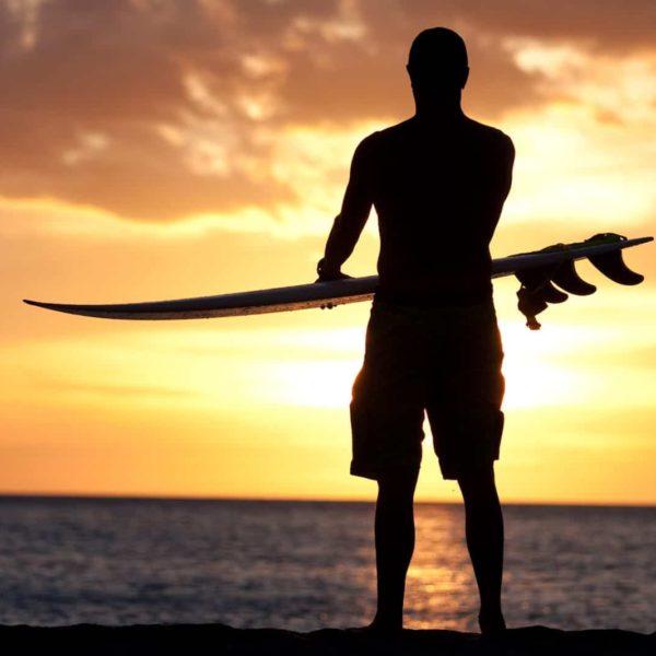 Hawaii Surfing Sunset beach ocean