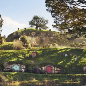 Hobbiton Matamata Waikato Lord of the Rings The Hobbit Vacation landscape hobbit doors