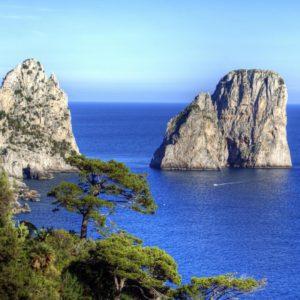 Italy Capri Cliff Coastline Cultural Italy