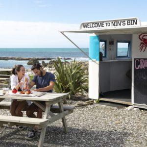 Kaikoura Canterbury coast lunch couple