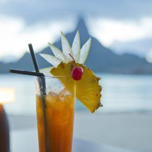 Tahiti Bora Bora Cocktails Oceanside