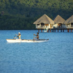 Tahiti Bora Bora Romantic Vacation Canoe Ocean Overwater Bungalows