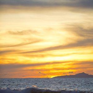 Tahiti huahine sunset ocean