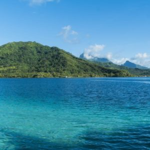 Tahiti raiatea calm blue ocean water mountains