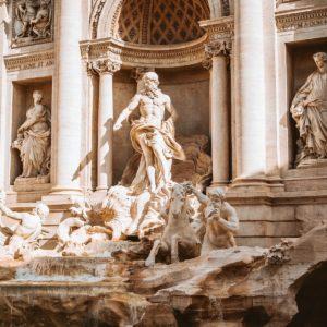 Trevi Fountain, Rome, Italy closeup