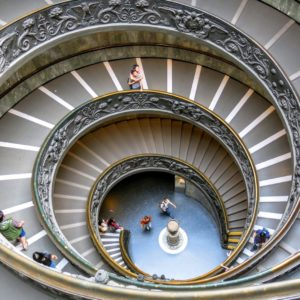 Vatican Museums, Roma staircase