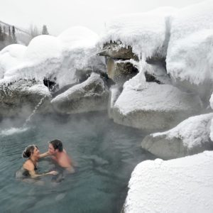Alaska Luxury Vacation Chena Natural Hot Spring Glacier Snow