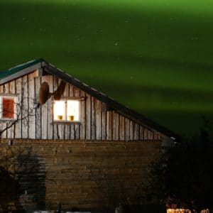 Alaska Luxury Vacation Fairbanks Barn Northern Lights