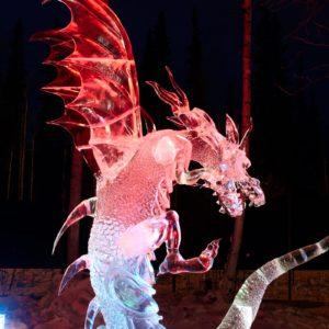 Alaska Luxury Vacation Fairbanks Ice Sculpture Dragon
