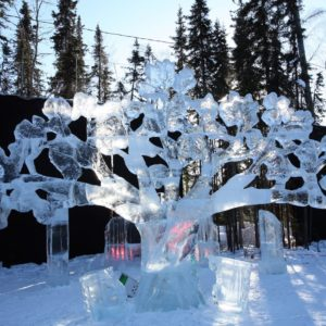 Alaska Luxury Vacation Fairbanks Ice Sculpture Trees