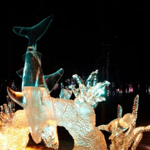 Alaska Luxury Vacation Fairbanks Salmon Run Ice Sculpture