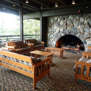 Alaska Luxury Vacation Glacier Bay National Park And Preserve Lodge Stone Fireplace