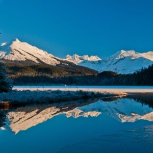 Alaska Luxury Vacation Juneau Mountains Reflecting Water