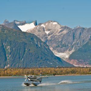 Alaska Luxury Vacation Juneau Sea Plane Taking Off