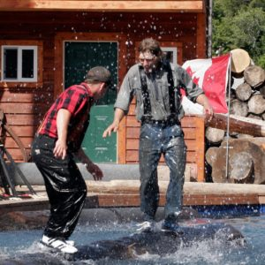 Alaska Luxury Vacation Ketchikan Log Rolling Summer Activities