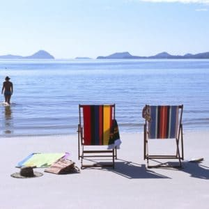 Beach Chairs Lounging Nsw North Coast Beaches Port Stephens Luxury Australia Vacation