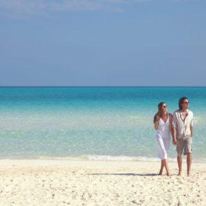 Cuba Luxury Vacation Beach Couple Walk