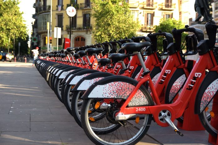 Bike Sharing Bicycles Barcelona Bicing City Street