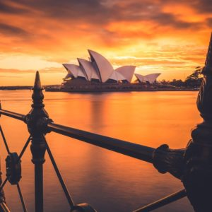 Circular Quay Sydney Australia Opera House Sunset Luxury Australia Vacation