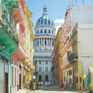 Cuba Luxury Vacation Coloured Buildings Capitolio Havana