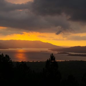 Costa Rica Sunset Nature Twilight Landscape