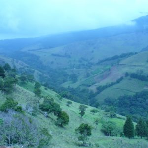 Countryside Costa Rica Misty Landscape Wilderness