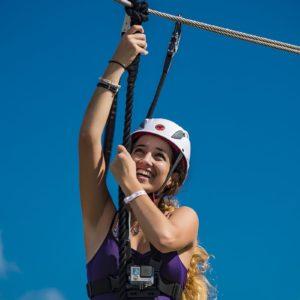 Zipline Woman Excursion Cuba Luxury Vacation