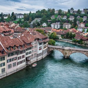 Europe Luxury Switzerland Vacation Bern Switzerland River Bridge Roof