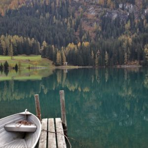 Europe Luxury Switzerland Vacation Boat Autumn Lake Davos Beach Landscape Nature