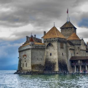 Europe Luxury Switzerland Vacation Castle Chillon Switzerland