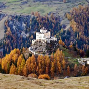 Europe Luxury Switzerland Vacation Castle Tarasp Lower Engadin Switzerland Autumn
