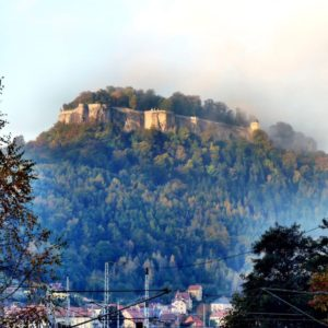 Europe Luxury Switzerland Vacation Fortress Doncaster Fog Landscape Saxon Switzerland