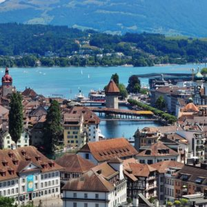 Europe Luxury Switzerland Vacation Lucerne Lake Lucerne Region Chapel Bridge Water