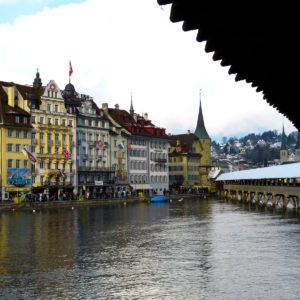 Europe Luxury Switzerland Vacation Lucerne Switzerland Chapel Bridge Historic Center